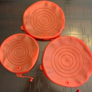 Pampered Chef Stretch Fit Silicone Lid Set